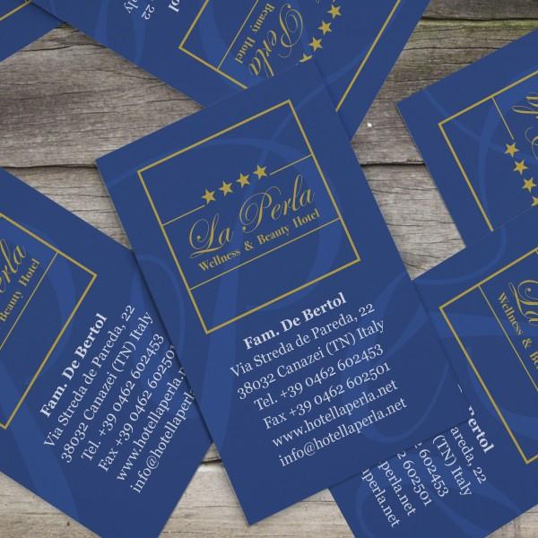 Biglietto da visita Hotel La Perla