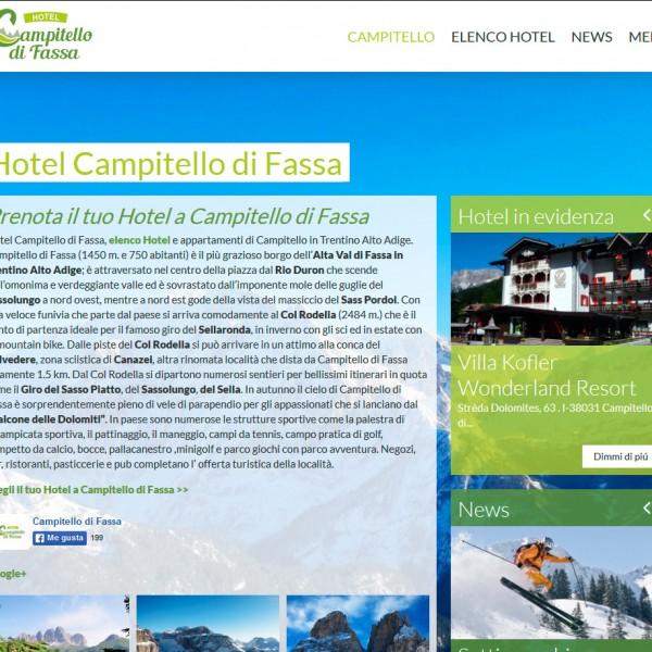 Hotel Campitello di Fassa – das Portal des Campitello di Fassa