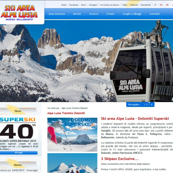 Ski Area Alpe Lusia – Moena – Bellamonte (TN)