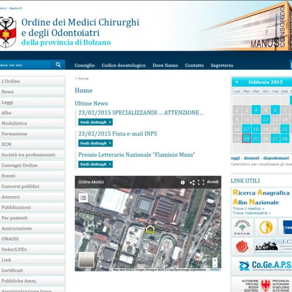 Ordine dei Medici – Bolzano