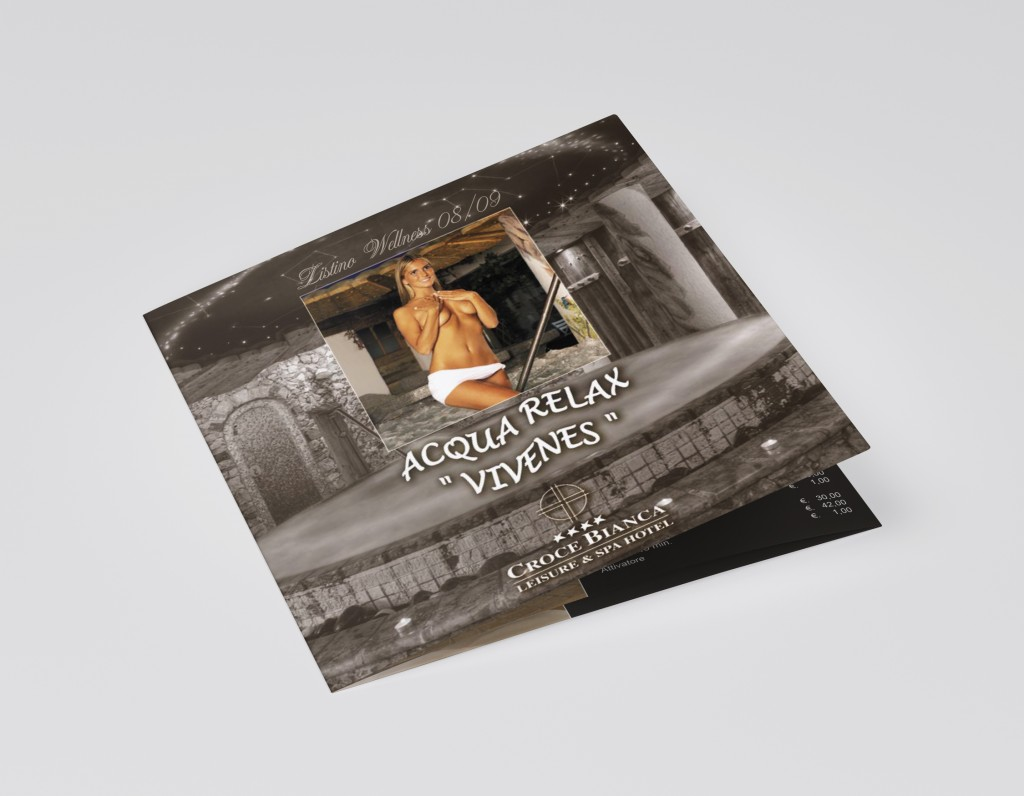 Trifold sqaure brochure mockup