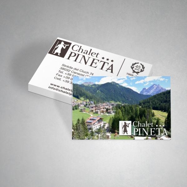 Biglietto da visita Chalet Pineta